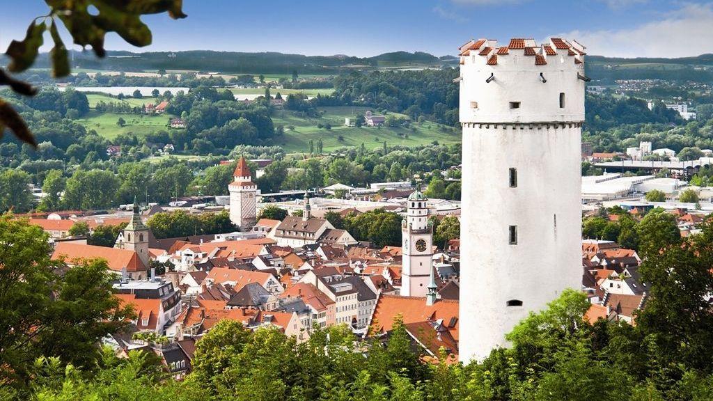 Stadt Ravensburg mit Stadtturm