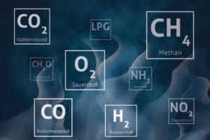 Verschiedene Gase für stationäre Gaswarnanlagen von MSR-Electronic