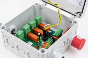 Innenbereich des MSC2-Multi-Sensor-Controllers für stationäre Gaswarnanlage von MSR-Electronic